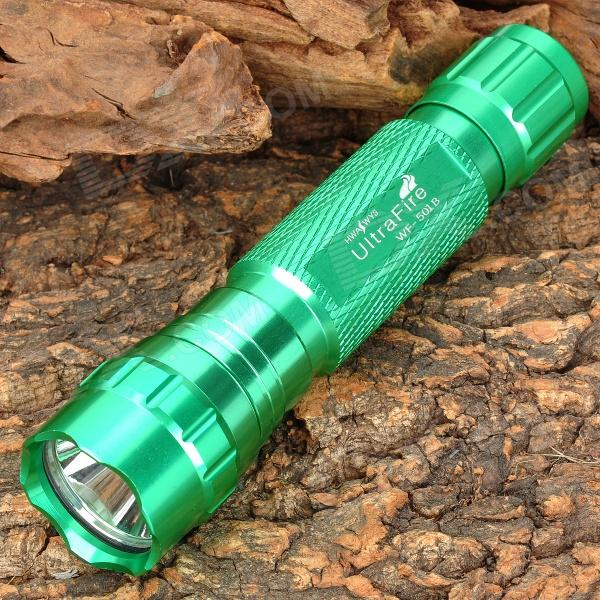 UltraFire WF-501B 885lm 1-Mode White Light Flashlight - Green (1 x 18650) ultrafire wf 504b 680lm 1 mode led flashlight xm l t6 white light led lamp torch w battery and charger 1 x 18650