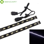 Sencart Waterproof 9W 810lm 18-SMD 5730 LED White Light Car Begrenzungsleuchte Streifen (2 PCS / 12V)