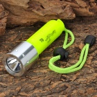 Cree XM-L T6 315lm 1-Mode White Light Diving Flashlight - Fluorescent Green (1 x 18650)