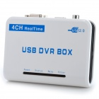 4CH Real-Time H.264 USB 2.0 DVR Audio Video Capture Box - White