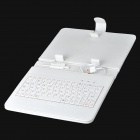 "80-Key Wired Keyboard w/ Protective Artificial Leather Case for 8"" Tablet PC - White"