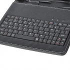"80-Key Wire Keyboard w/ Protective Artificial Leather Case for 8"" Tablet PC - Black"