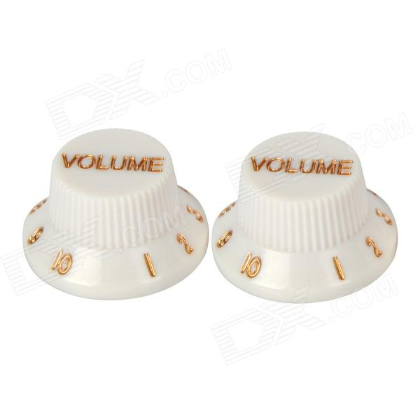 Plastic Volume Knob for Electric Guitar / Bass - White (2 PCS)