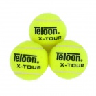 Teloon X-TOUR Wool + Rubber Tennis Balls - Fluorescent Yellow (3 PCS)