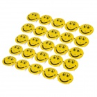 Smiling Face Pattern Red and Blue Light 3-LED Badges - Gelb (3 x AG3 / 25 PCS)