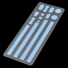 Stylish Frame Edge Adhesive Sticker for Iphone 4 / 4S - Blue