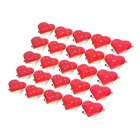 Love Heart Pattern Red and Blue Light 3-LED Badges - Red (3 x AG3 / 25 PCS)