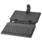 "80-Key Wired Keyboard w / estuche protector de cuero artificial para 7 ""Tablet PC - Negro"