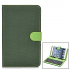 "80-Key Wired Keyboard w/ Protective Artificial Leather Case for 7"" Tablet PC - Black + Green"