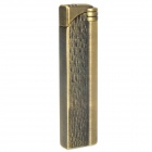 Stainless Steel Windproof Butane Jet Lighter - Bronze