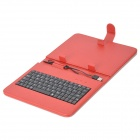 "80-Key Wired Keyboard w/ Protective Artificial Leather Case for 7"" Tablet PC - Red"