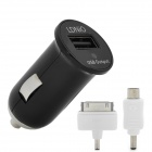 LDNIO DL-212 Auto Zigarette Powered Charger w / 30-pin / Micro USB Adapter - Schwarz