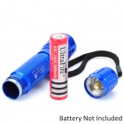 UltraFire WF-501B 885lm 3-Mode Memory White Light Flashlight - Blue (1 x 18650)