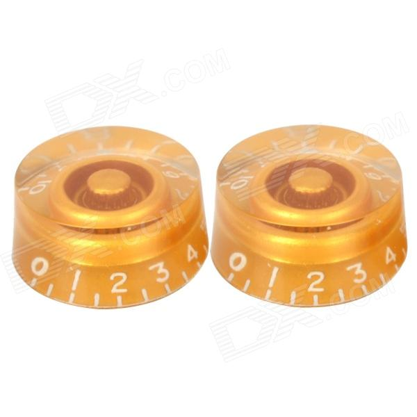 Plastic Speed Control Knobs for LP Electric Guitar / Bass - Golden (2 PCS) high tech and fashion electric product shell plastic mold