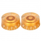 Plastic Speed Control Knobs for LP Electric Guitar / Bass - Golden (2 PCS)