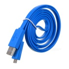 Micro USB Male to Male Data Flat Cable - Blue (150cm)