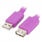 USB 2.0 Male to Female Extension Data Flat Cable - Purple (1.5m)