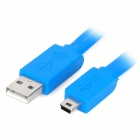USB 2.0 macho a mini USB macho de datos Cable Plano - Azul (1,5 m)