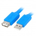 USB 2.0 Male to Female Extension Data Flat Cable - Blue (1.5m)