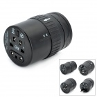 Universal Travel Power Plug Adapter w / USB Outlet - Schwarz (100 ~ 250V)