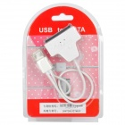 "Dual USB 2.0 to 2.5"" SATA 22-Pin HDD Adapter Cable - White (25cm)"