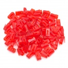 Cat.5e RJ45 Network Cable Connectors - Red (100 PCS)