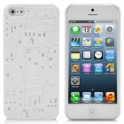 Special Castle Pattern Protective Plastic Back Case for iPhone 5 - White