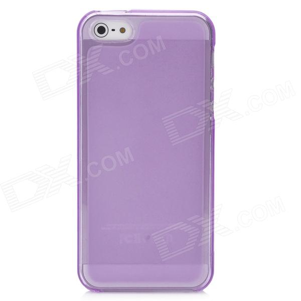 Protective Matte TPU Back Case for Iphone 5 - Transparent Purple glossy tpu gel back protection case for iphone 7 plus light purple