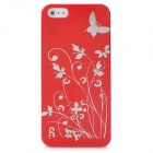 Protective Plastic Back Case for Iphone 5 - Red
