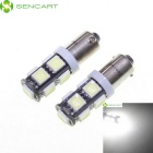 SENCART BAX9S 4.5W 414lm 7200K 9-SMD 5060 LED White Light Car Steering / Backup Light (12V / 2 PCS)