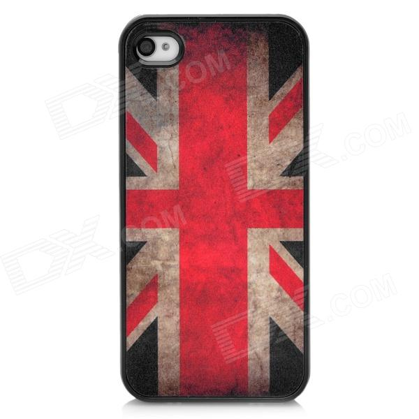 Protective Vintage UK National Flag Pattern Back Cover Case for Iphone 4 / 4S цена и фото