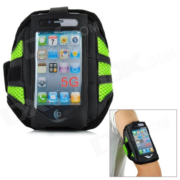 Trendy Sports Outdoor Armband for Iphone 5 - Black + Green