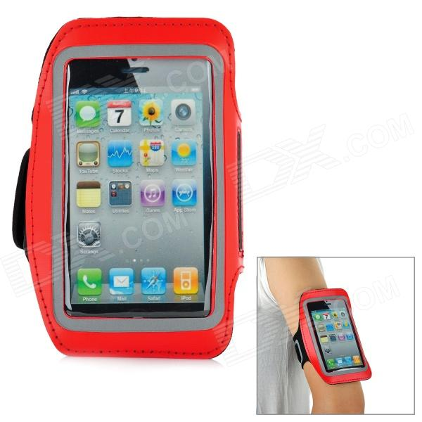 Trendy Sports Outdoor Neoprene Armband for Iphone 5 - Red + Black