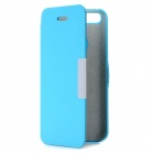 Protective Flip-Open PU Leather Case for iPhone - Blue