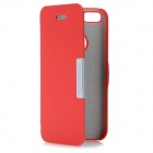 Protective Magnetic Button Flip Open PU-Leder Etui für das iPhone 5 - Red