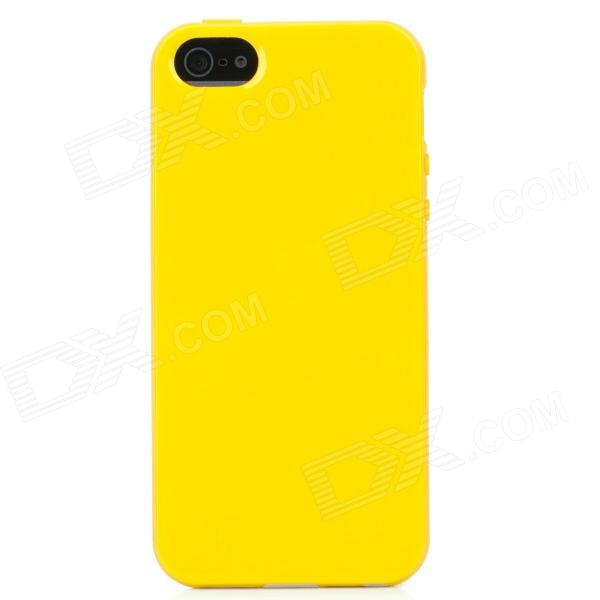 Protective Silicone Soft Back Case Cover for Iphone 5 - Yellow protective silicone soft back case cover for iphone 5 white