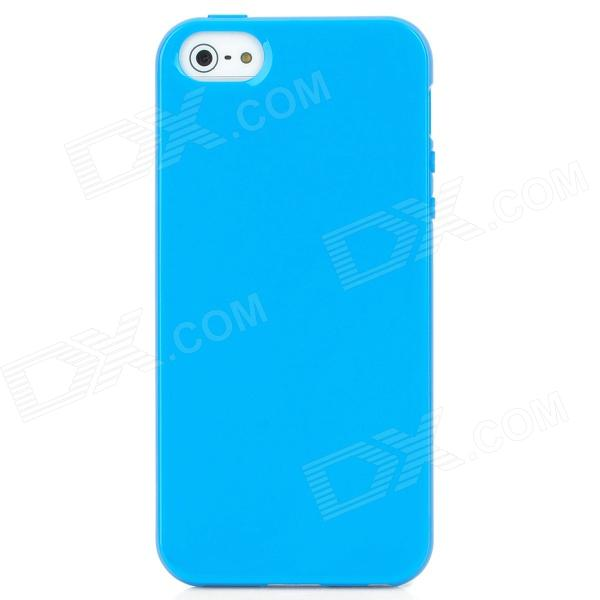 Protective Silicone Back Case for Iphone 5 - Blue