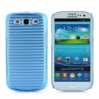 Horizontal Stripe Style Protective Back Case for Samsung Galaxy S3 i9300 - Blue