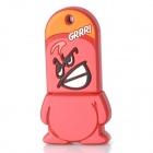 Cartoon Style Rubber + Aluminum Alloy USB 2.0 Flash Drive - Red (16GB)