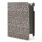 Stylish Leopard Grain Protective PU Leather Case for Ipad 2 / the New Ipad - Leopard Grain Color