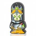 Cartoon Style Rubber + Aluminum Alloy USB 2.0 Flash Drive - Grey + Yellow (8GB)