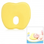 Cute Apple Shape Baby Rebound Cotton Spandex Fabric + Foam Pillow - Yellow