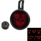 3W 72-LED Red Light Animated Cartoon Expression Car Decoration Lamp with IR Remote Controller