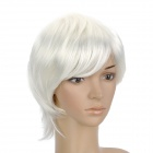 HMD638 B80 Fashion Cosplay Man's Short Straight Hair Wig - White