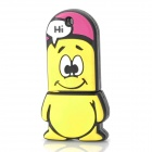 Cartoon Style Rubber + Aluminum Alloy USB 2.0 Flash Drive - Yellow (16GB)
