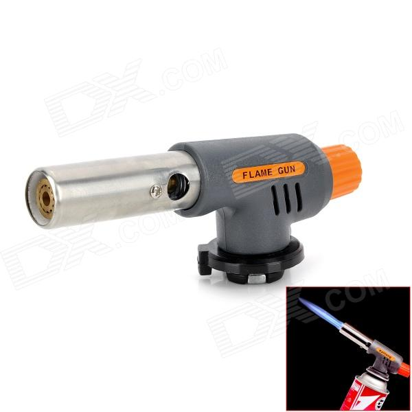 Multi-Function Adjustable Auto Ignition Gas Butane Brazing Torch - Grey + Orange (1300'C)