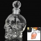 Cool Skull Style Vodka Bottle - Transparent White (Size S)