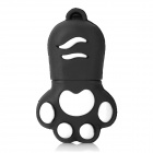 Cat's Paw Style USB 2.0 Flash Drive - Black + White (32GB)