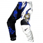 Scoyco P025-L Motorcycle Professional Racing Pants - Blue + White (Size L)
