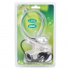 USB Powered 95lm 1-LED Flexible Neck Clip-on White Light Lamp w/ Switch- Silver